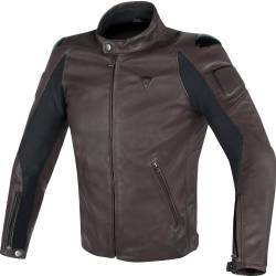 CHAQUETA DAINESE STREET DARKER PIEL DARK-BROWN