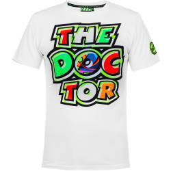 CAMISETA VR46 VALENTINO ROSSI THE DOCTOR 46 BLANCA