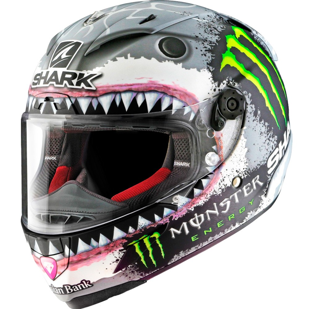Shark Tibur/ón motocicleta cascos color blanco tama/ño S