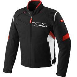 CHAQUETA SPIDI FLASH TEX NEGRO/ROJO