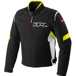 CHAQUETA SPIDI FLASH TEX NEGRO/AMARILLO FLUOR