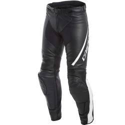 PANTALONES DAINESE ASSEN LEATHER NEGRO/BLANCO
