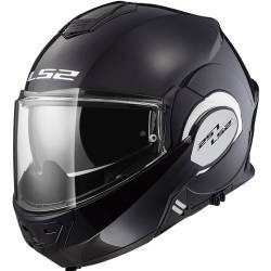 CASCO LS2 VALIANT NEGRO BRILLO MODULAR