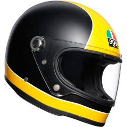 CASCO AGV LEGENDS X3000 SUPER AGV NEGRO MATE/AMARILLO