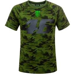 CAMISETA VR46 VALENTINO ROSSI CAMOUFLAGE 46 MONSTER CAMP