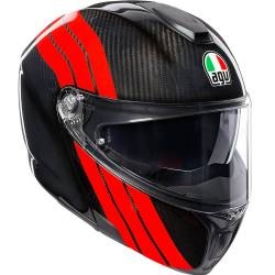 CASCO AGV SPORTMODULAR STRIPES CARBONO MODULAR