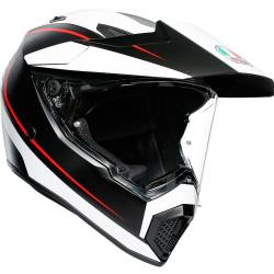 CASCO AGV AX9 PACIFIC ROAD NEGRO/ROJO