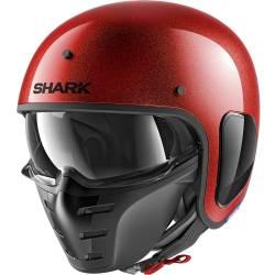 CASCO SHARK S-DRAK GLITTER ROJO RRX