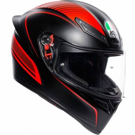 CASCO AGV K1 WARMUP ROJO