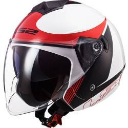 CASCO LS2 TWISTER II PLANE BLANCO