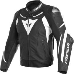 CHAQUETA DAINESE SUPER SPEED 3 PIEL NEGRO/BLANCO