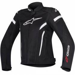 CHAQUETA ALPINESTARS STELLA T-GP PLUS R V2 AIR NEGRO/BLANCO
