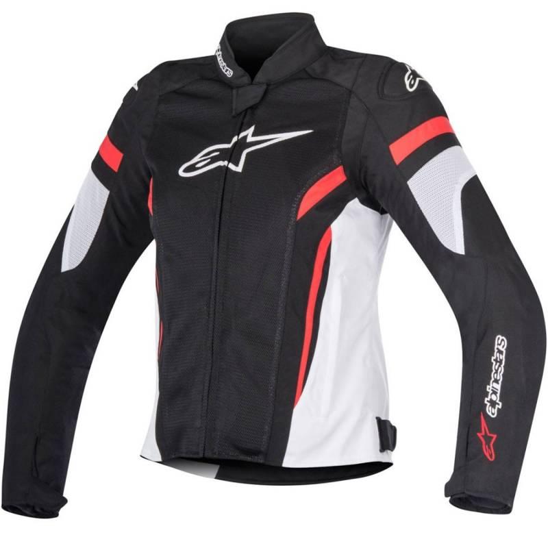 Stella T-Gp Plus R V2 talla L Chaqueta color negro blanco y rojo