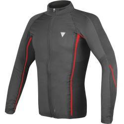 CAMISETA TERMICA DAINESE D-CORE NO-WIND THERMO TEE LS NEGRO/ROJO