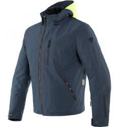 CHAQUETA DAINESE MAYFAIR D-DRY FLUO-YELLOW/EBONY/EBONY