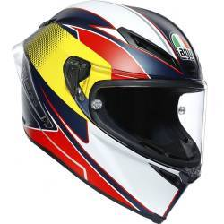 CASCO AGV CORSA R SUPERSPORT AZUL/ROJO/AMARILLO