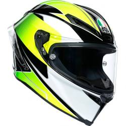 CASCO AGV CORSA R SUPERSPORT NEGRO/BLANCO/LIMA