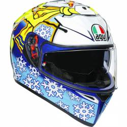 CASCO AGV K-3 SV ROSSI WINTER TEST 2016