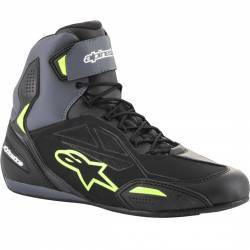 BOTIN ALPINESTARS FASTER-3 DRYSTAR BLACK/GREY/YELLOW FLUO