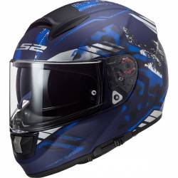 Casco ls2 vector ft2 stencil azul