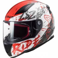 Casco ls2 rapid naughty blanco/rojo