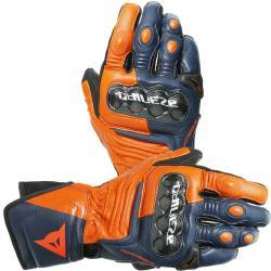 GUANTES DAINESE CARBON 3 LONG  BLACK-IRIS/FLAME-ORANGE/FLUO-RED
