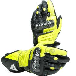 GUANTES DAINESE CARBON 3  LONG BLACK/FLUO-YELLOW/WHITE