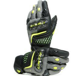 GUANTES DAINESE CARBON 3 SHORT BLACK/CHARCOAL-GRAY/FLUO-YELLOW