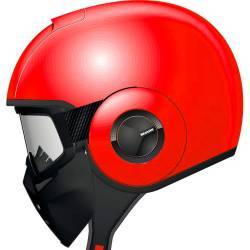 CASCO SHARK RAW JET STRIPE ROJO