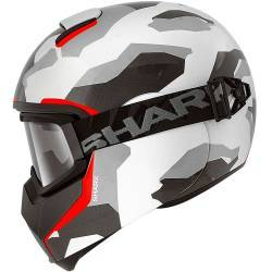 CASCO SHARK VANCORE WIPEOUT BLANCO/ROJO