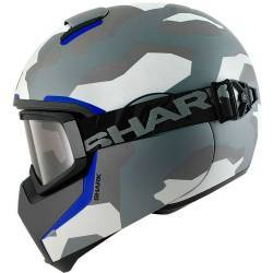 CASCO SHARK VANCORE WIPEOUT BLANCO/AZUL