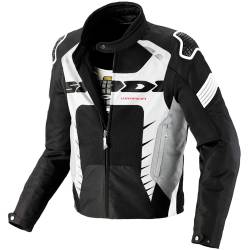 CHAQUETA SPIDI WARRIOR NET PERFORADA NEGRO/BLANCO