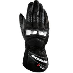 GUANTES SPIDI STR-1 LEATHER NEGRO/ROJO