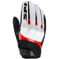 GUANTES SPIDI G-FLASH TEX GLOVE BLANCO/ROJO