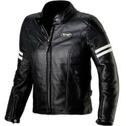 CHAQUETA SPIDI ACE LEATHER NEGRO/BLANCO