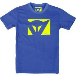 CAMISETA DAINESE COLOR NEW KID AZUL/AMARILLO FLUOR