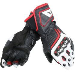 GUANTES DAINESE CARBON D1 LONG BLANCO ROJO