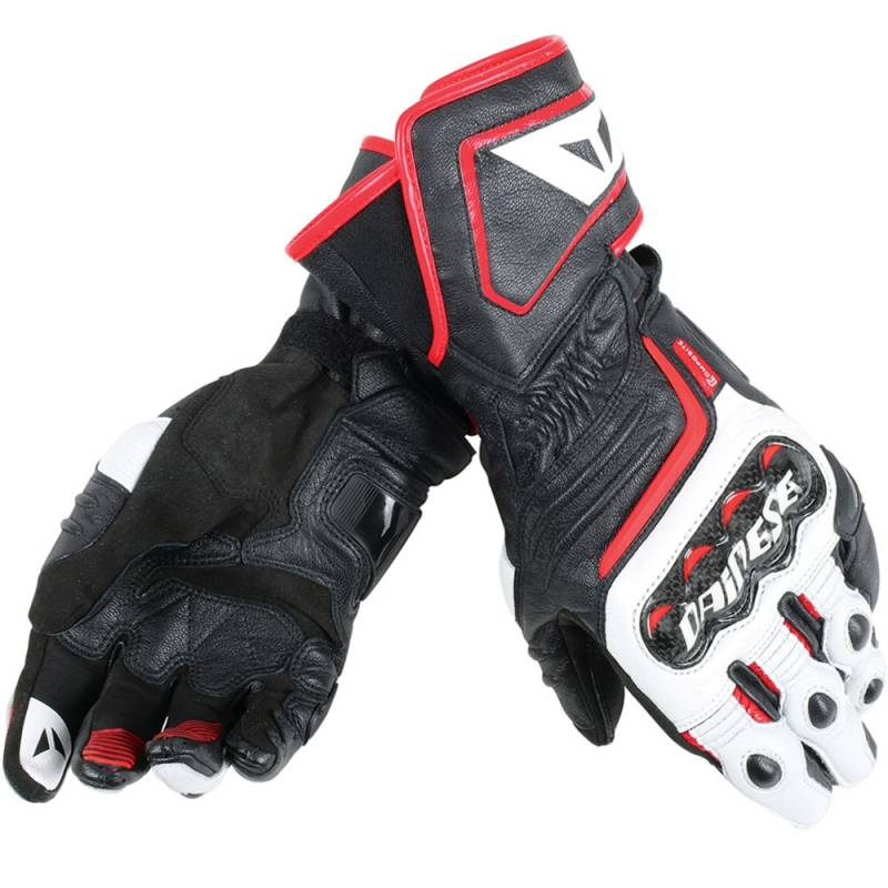 834fe5b9 GUANTES DAINESE CARBON D1 LONG BLANCO ROJO - Dainese Madrid