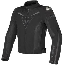 CHAQUETA DAINESE SUPER SPEED TEX PERFORADA NEGRO