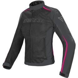 CHAQUETA DAINESE HYDRA FLUX D-DRY LADY NEGRA/FUXIA