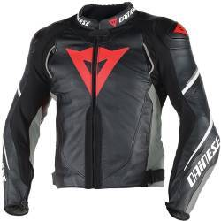 CHAQUETA DAINESE SUPER SPEED D1 PIEL NEGRO/ANTRACITA