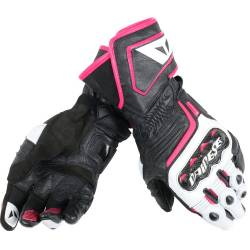 GUANTES DAINESE CARBON D1 LONG LADY BLANCO FUCSIA