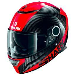 CASCO SHARK SPARTAN CARBON ROJO DRR
