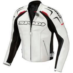 CHAQUETA SPIDI TRACK LEATHER JACKET BLANCO