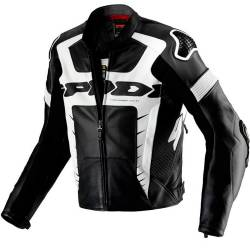CHAQUETA SPIDI WARRIOR PRO LEATHER NEGRA/BLANCO