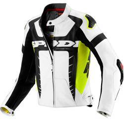 CHAQUETA SPIDI WARRIOR PRO LEATHER BLANCO/AMARILLO