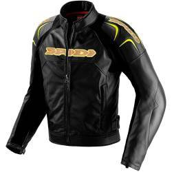 CHAQUETA SPIDI DARKNIGHT LEATHER JACKET NEGRO/AMARILLO