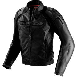 CHAQUETA SPIDI DARKNIGHT LEATHER JACKET NEGRA/BLANCO